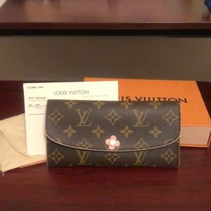 Authentic Louis Vuitton Emilie Bloom Wallet